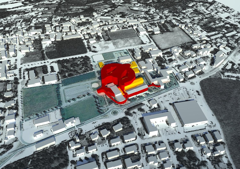 Inquadramento urbanistico con nuove costruzioni e demolizioni LFA}