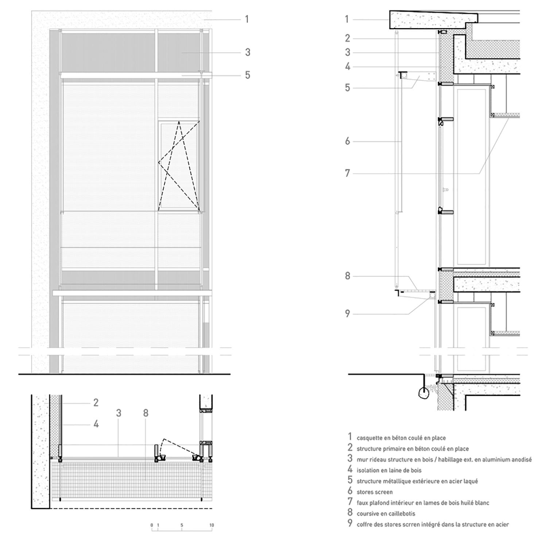 facade details Richter architectes et associés}
