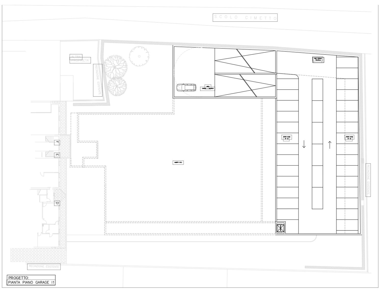 planimetria schematica garage -1 e -2 MPArchit&cts}