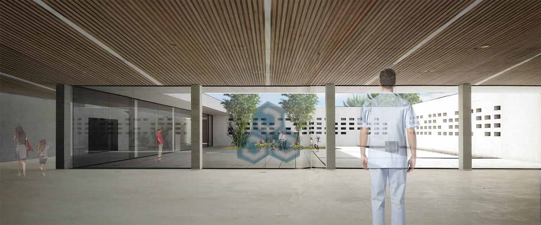 Vista renderizzata della corte interna MPArchit&cts Studio