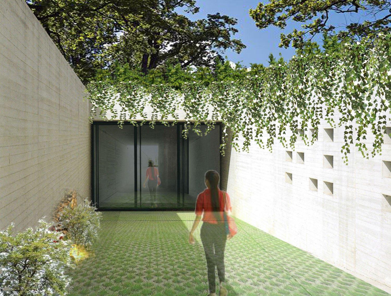 Passaggio interno alla clinica, interamente illuminato e ventilato MPArchit&cts Studio