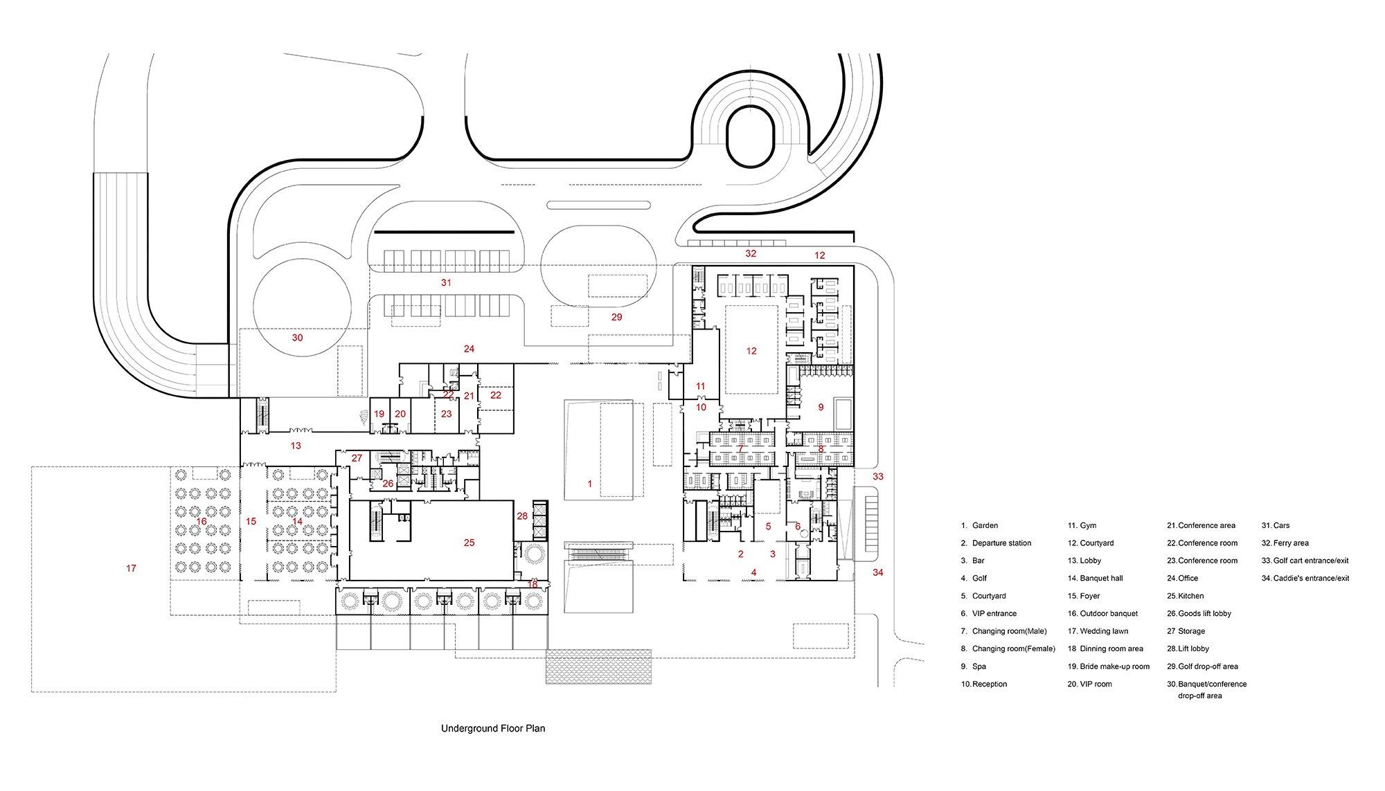 Underground Floor Plan Studio A+}