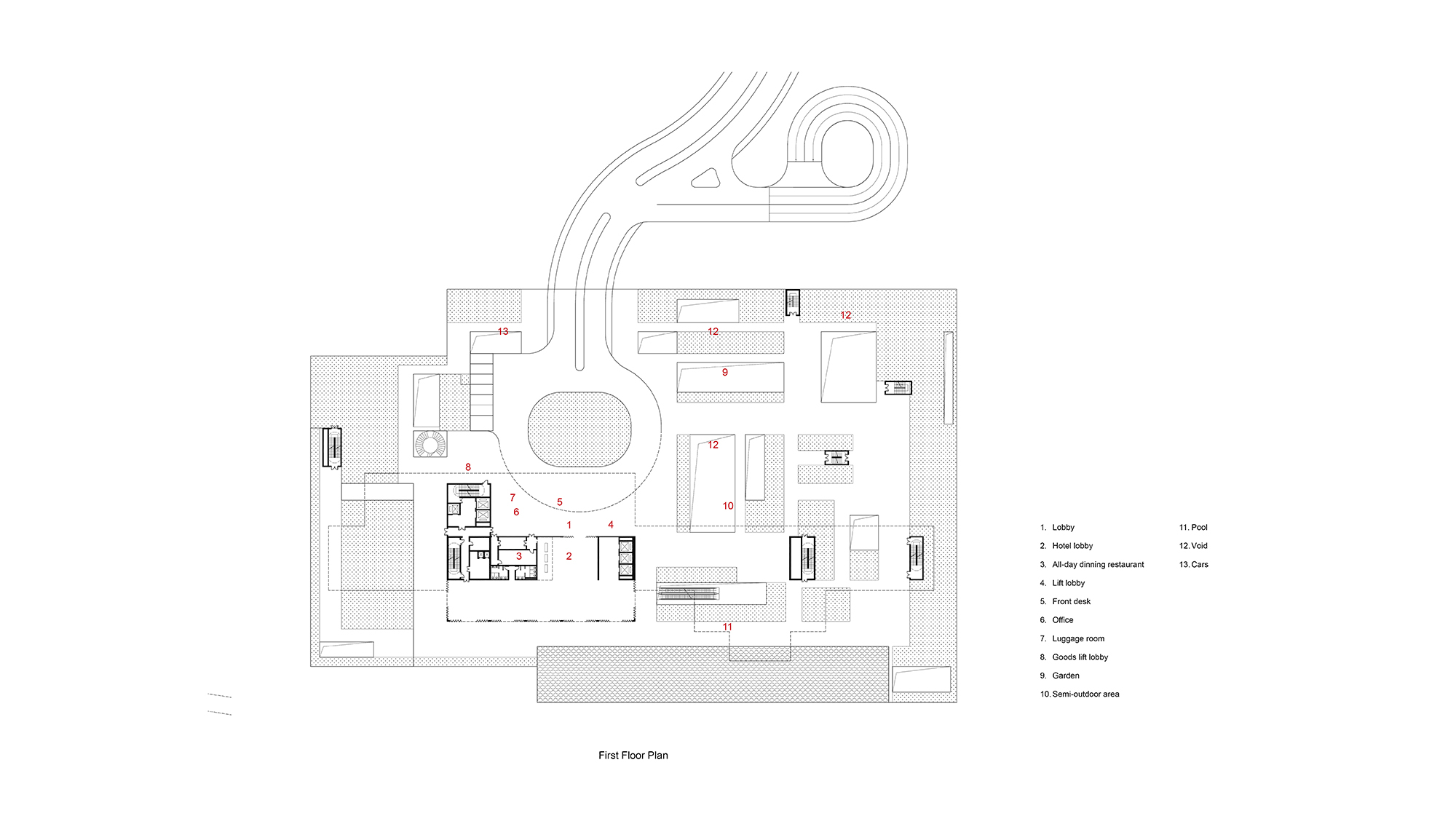 First Floor Plan Studio A+}