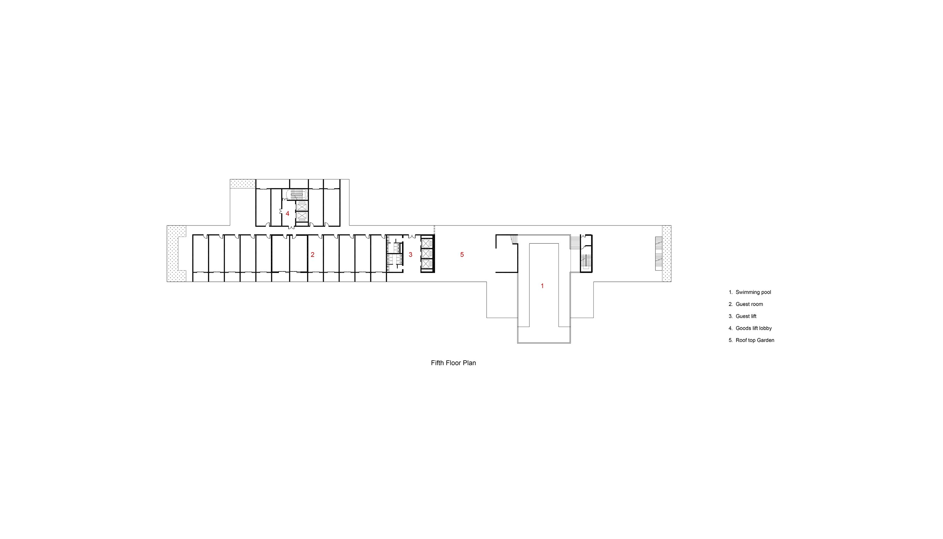 Fifth Floor Plan Studio A+}
