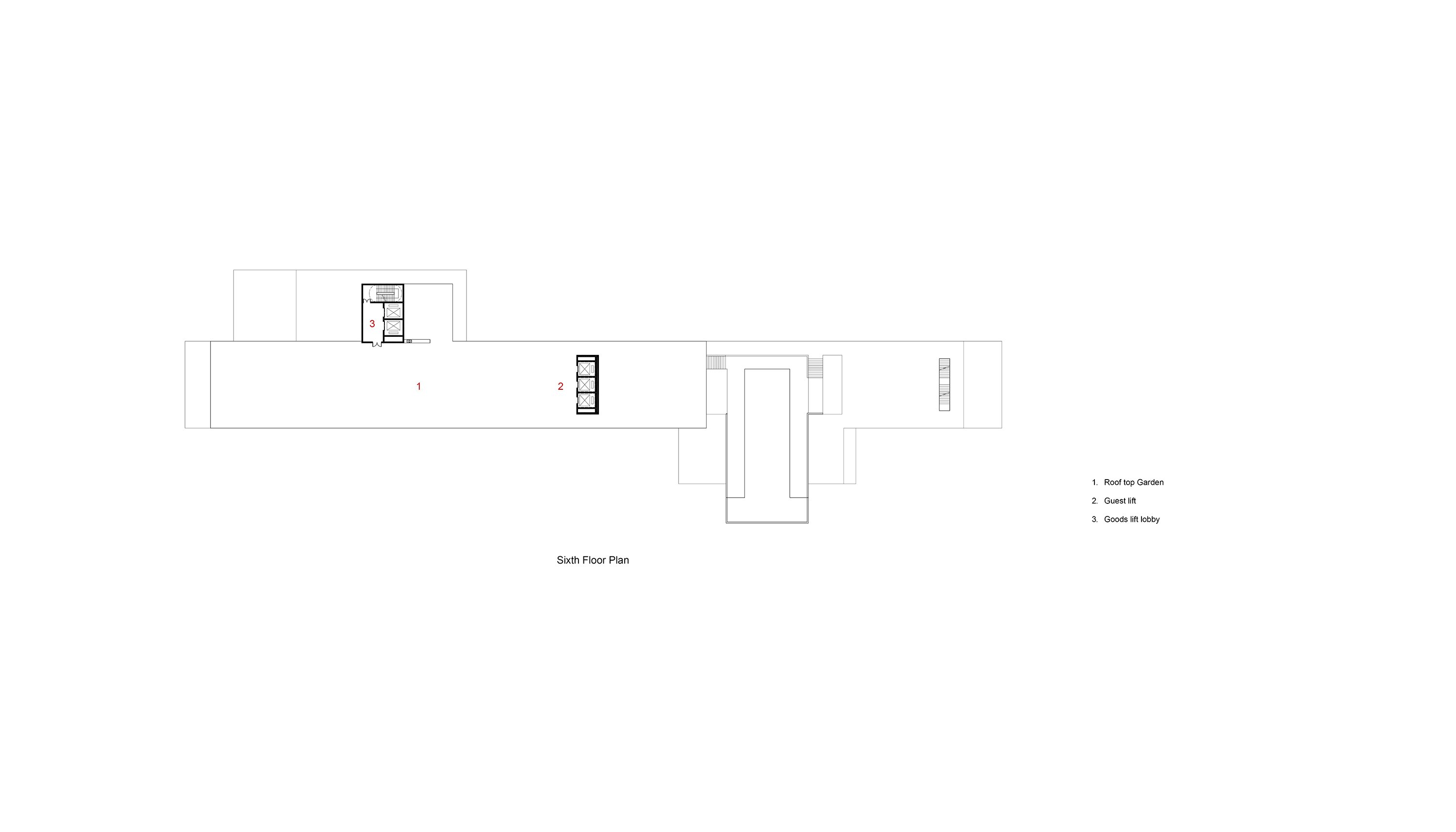 Sixth Floor Plan Studio A+}
