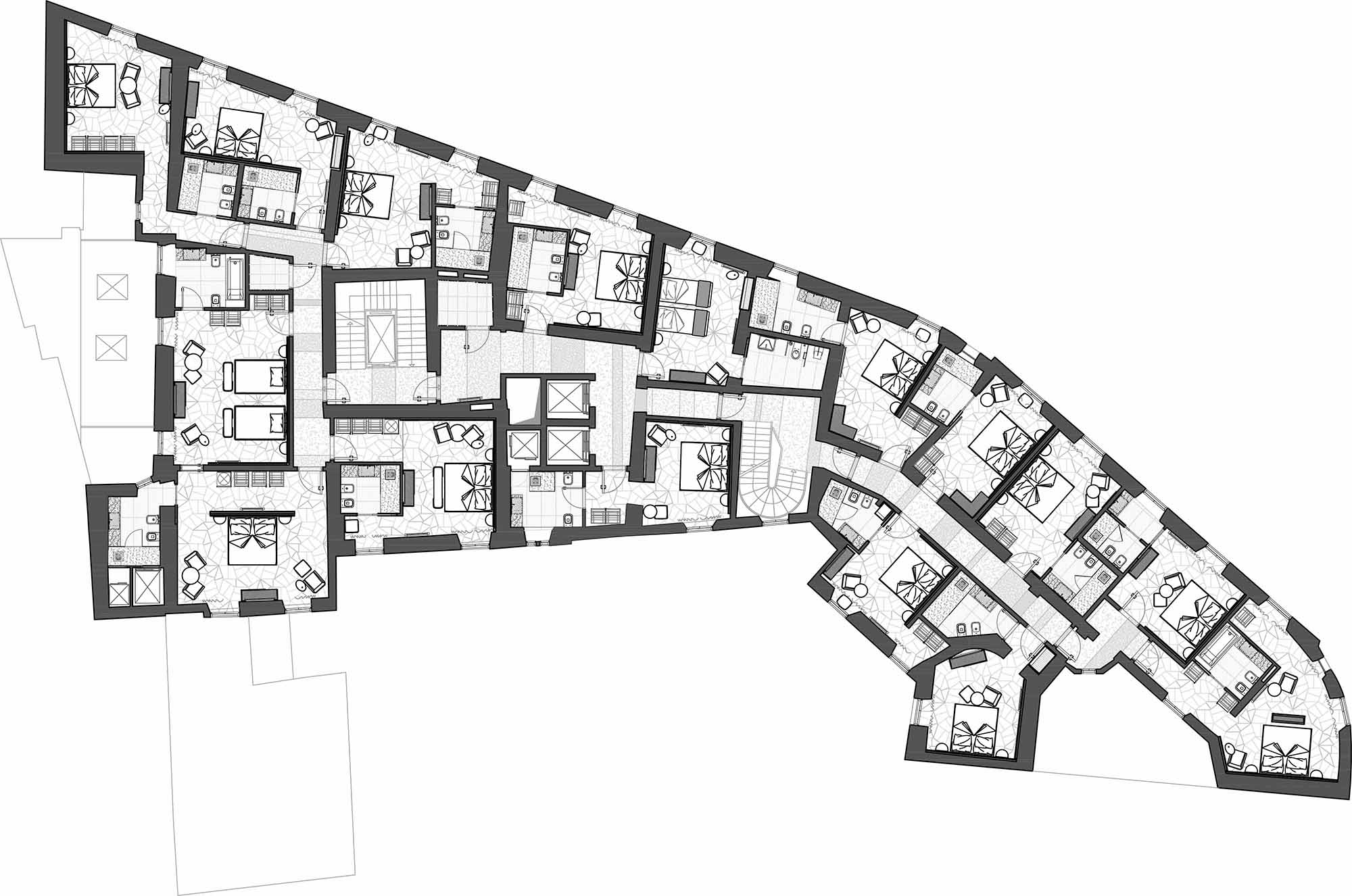 Rooms floor Studio Marco Piva}