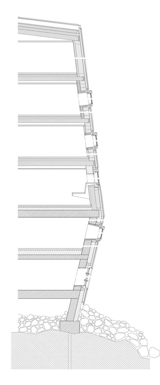 Sezione dettagliata della facciata STIFTER + BACHMANN}