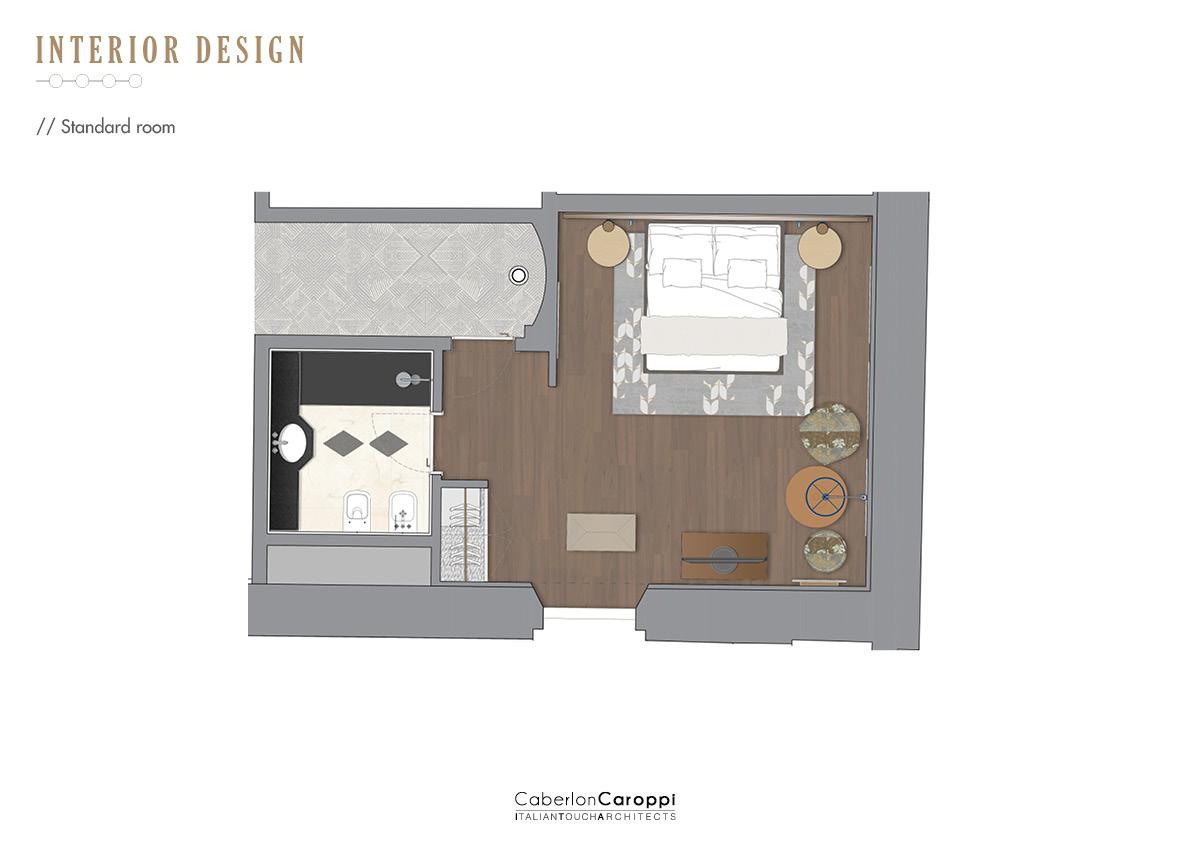Hilton Molino Stucky- Standard room CaberlonCaroppi}