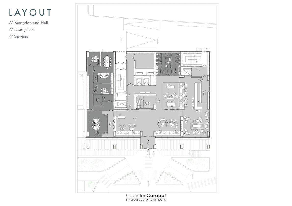 Hotel Mercure Almaty City Center_ Layout CaberlonCaroppi Architetti Associati}