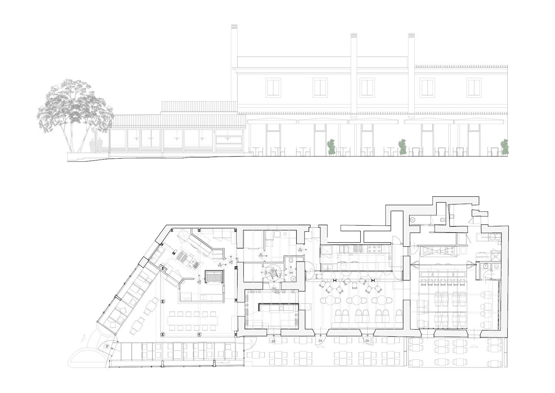 Prospetto esterno e planimetria generale RM\Architecture}
