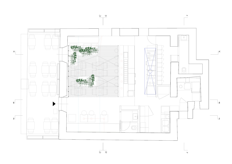 Planimetria di Mahalo South Pacfici Fine Food RM\Architecture}