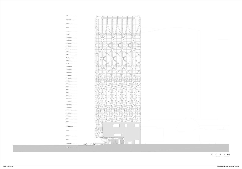 West Elevation Zaha Hadid Architects}