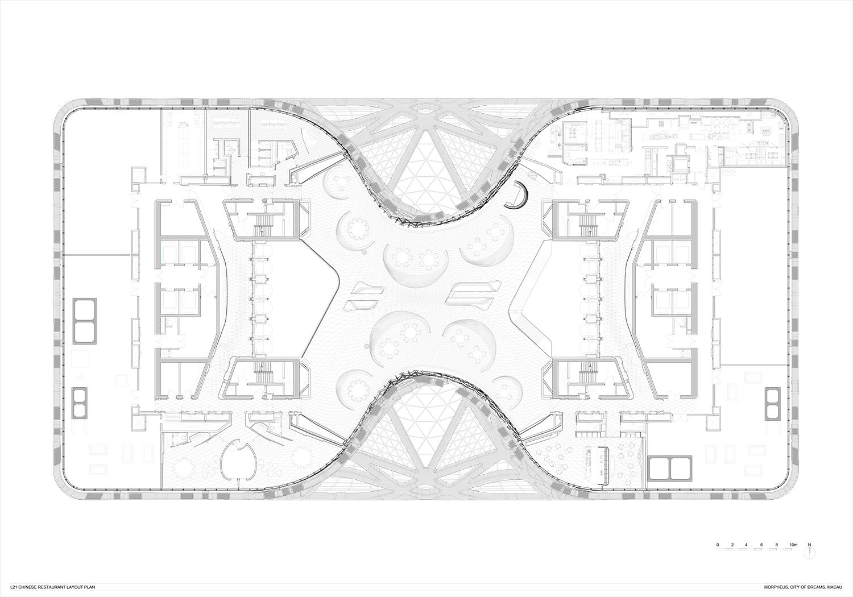 Level 21 Restaurant Layout Plan Zaha Hadid Architects}