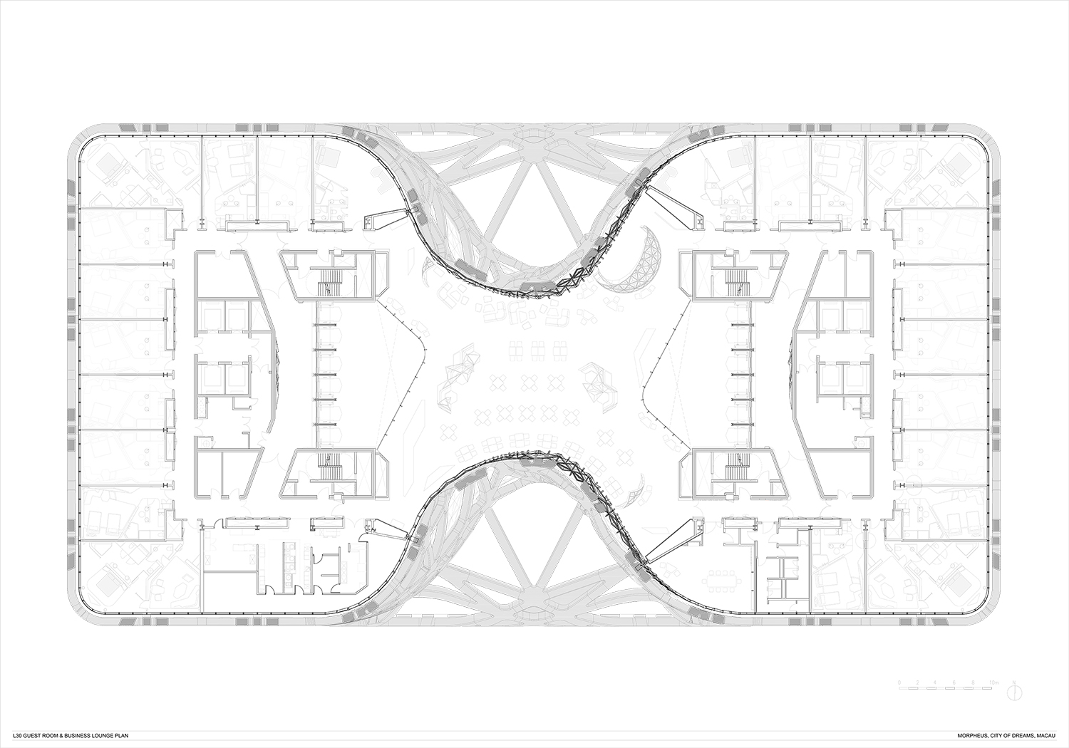 Level 30 Guest Room & Business Lounge Plan Zaha Hadid Architects}
