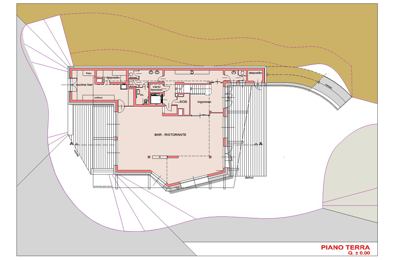 PIANTA PIANO TERRA AB2ER architecture}