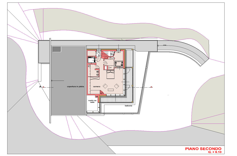 PIANTA PIANO SECONDO AB2ER architecture}