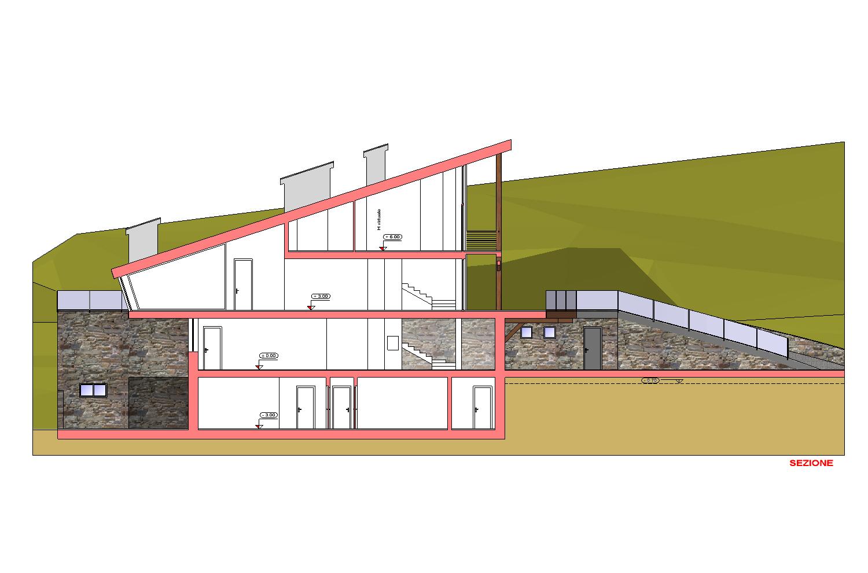 SEZIONE LONGITUDINALE AB2ER architecture}