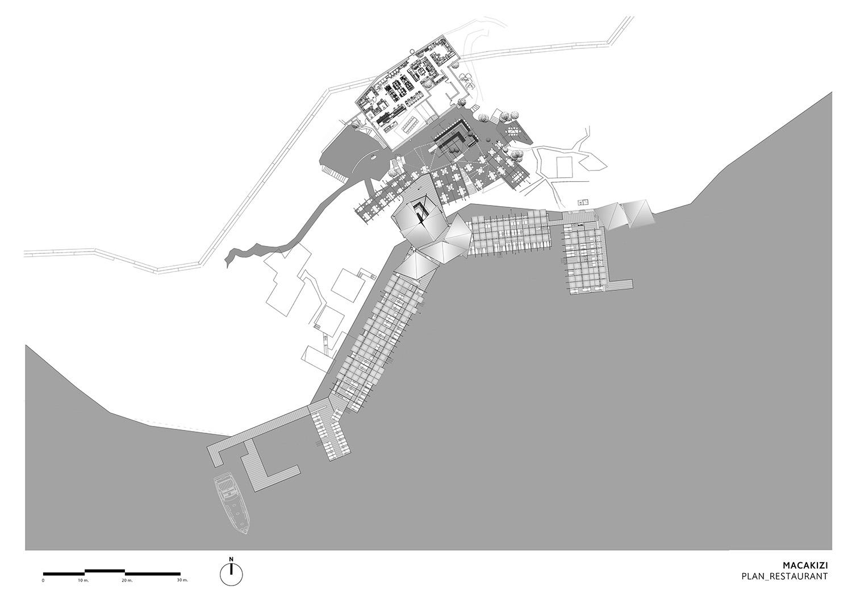 MACA KIZI HOTEL BEACH FACILITIES - RESTAURANT PLAN TABANLIOGLU ARCHITECTS}