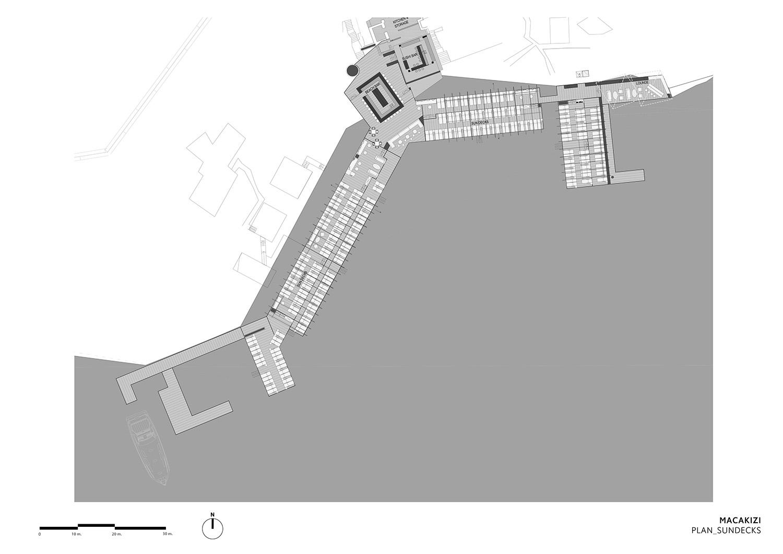 MACA KIZI HOTEL BEACH FACILITIES - SUN DECKS PLAN TABANLIOGLU ARCHITECTS}