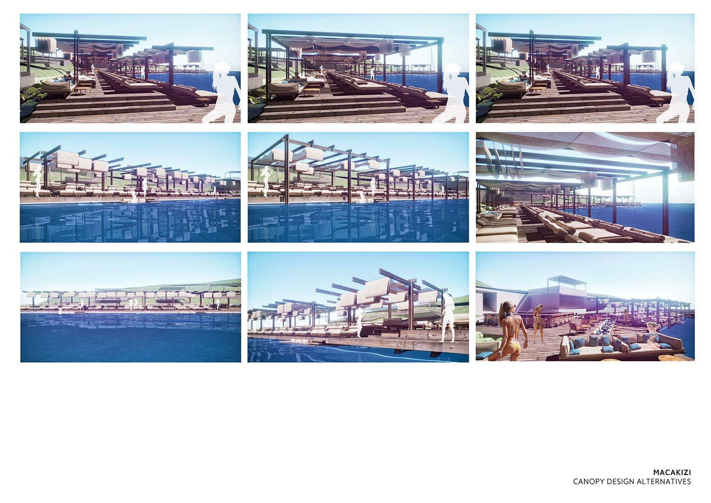 MACA KIZI HOTEL BEACH FACILITIES -  PERSPECTIVES TABANLIOGLU ARCHITECTS}