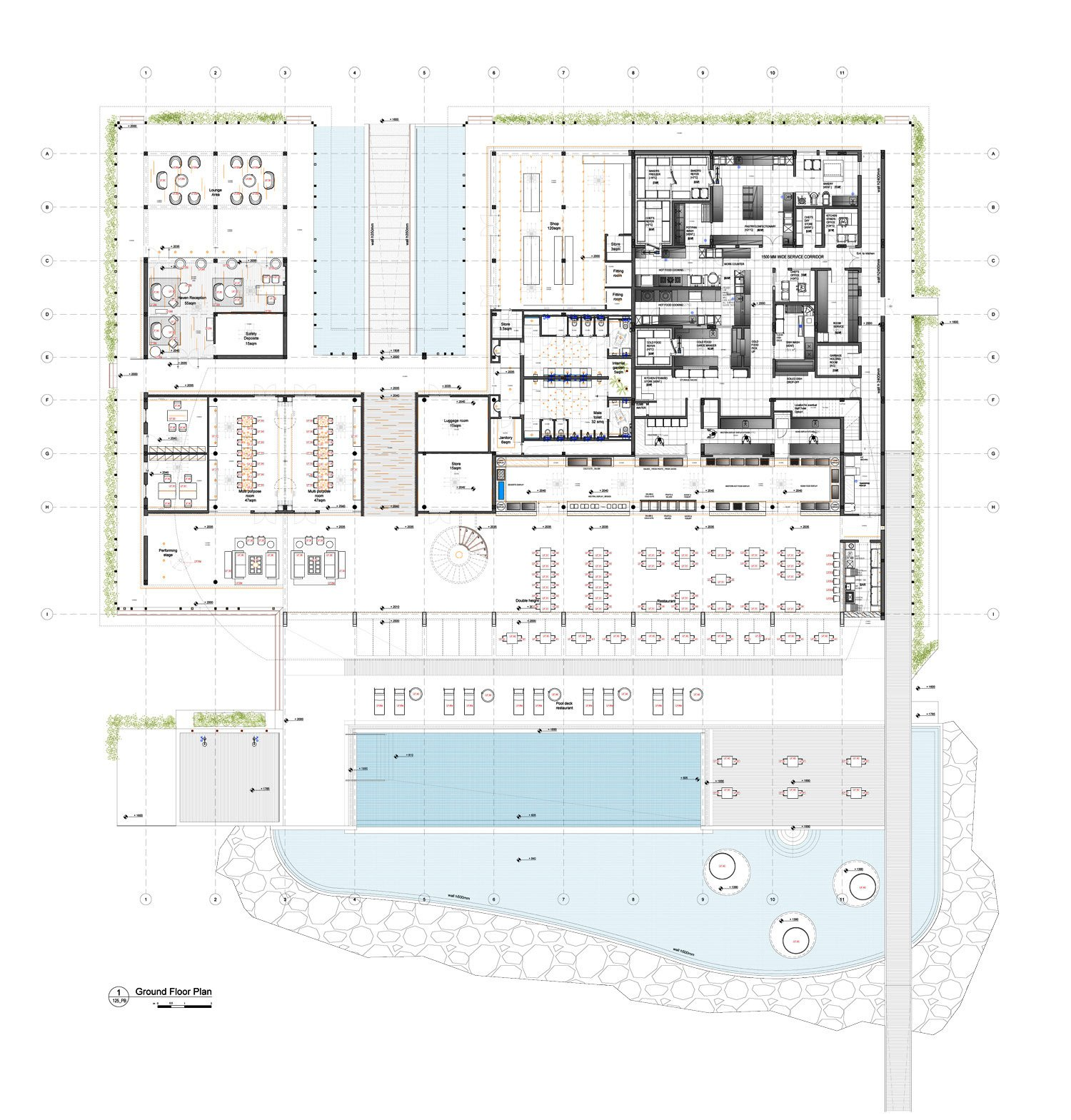 Main building ground floor plan Peia Associati}