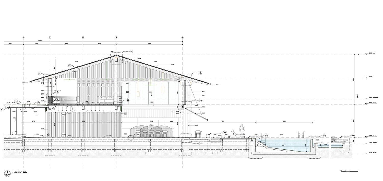 Main building section Peia Associati}