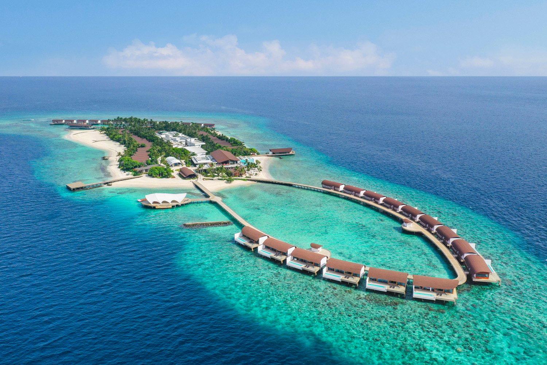 Aerial photo The Westin Maldives
