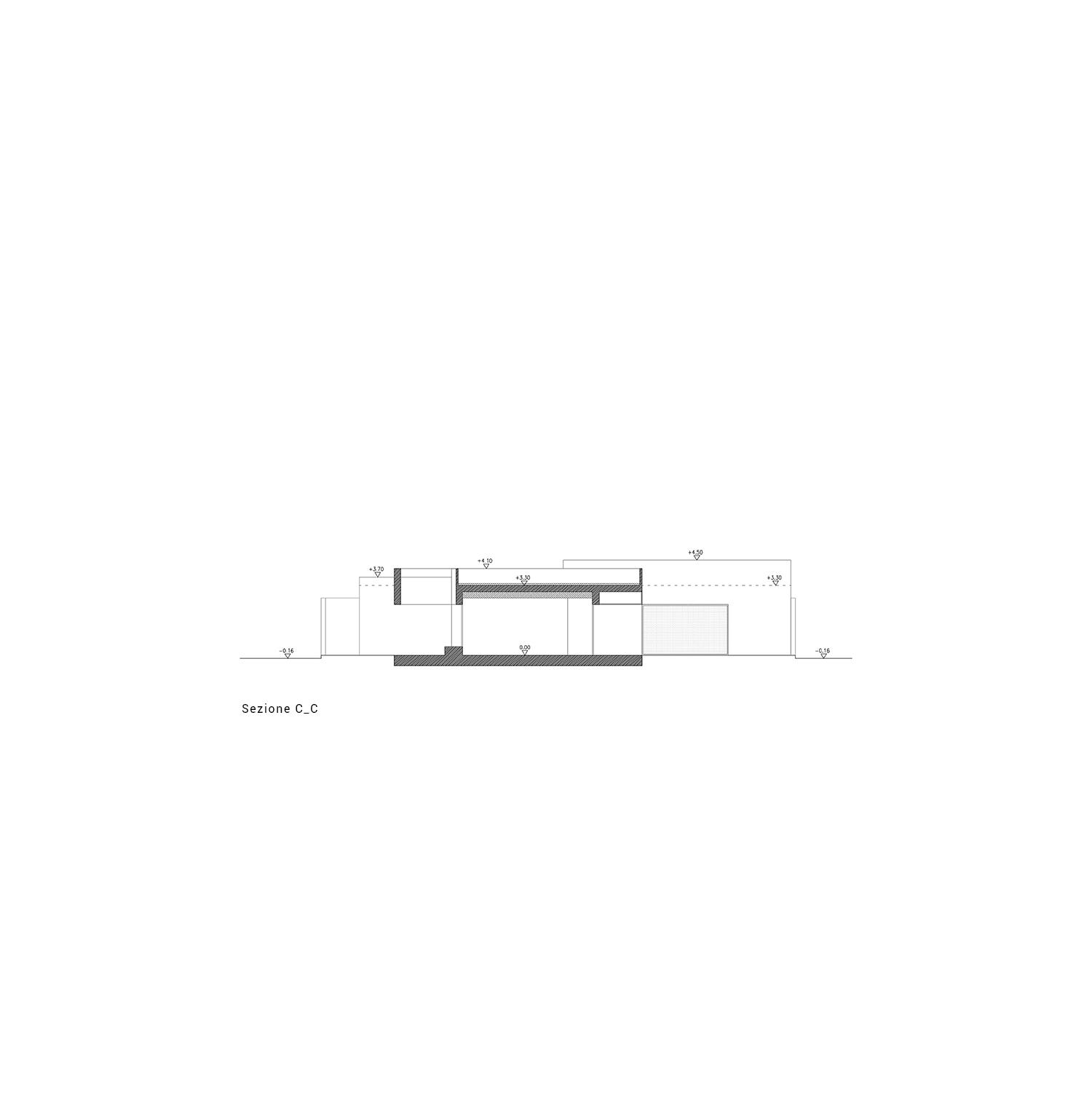 sezione C-C Arch. Salvatore Terranova - Ing. Giorgia Testa}