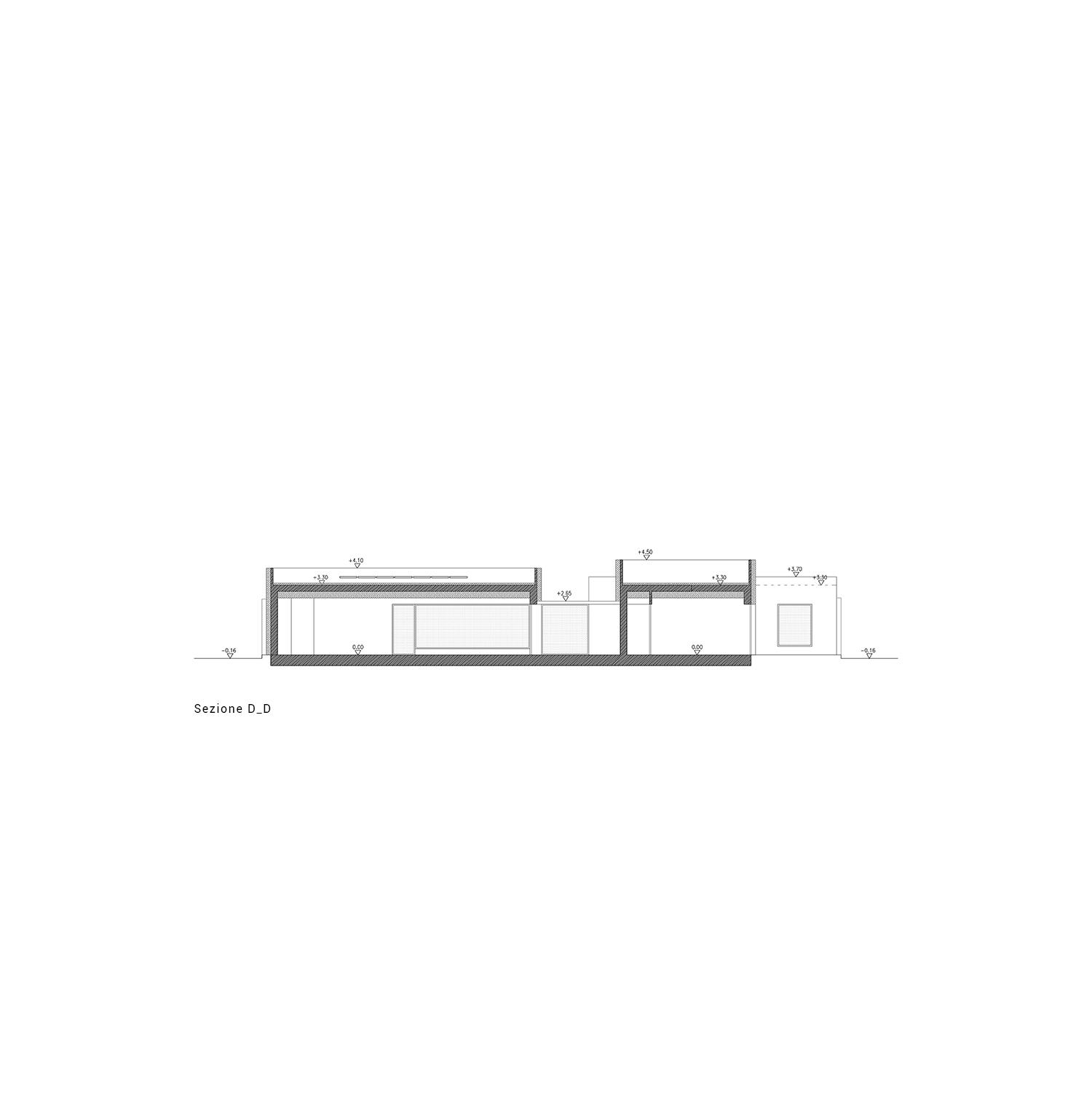 sezione D-D Arch. Salvatore Terranova - Ing. Giorgia Testa}