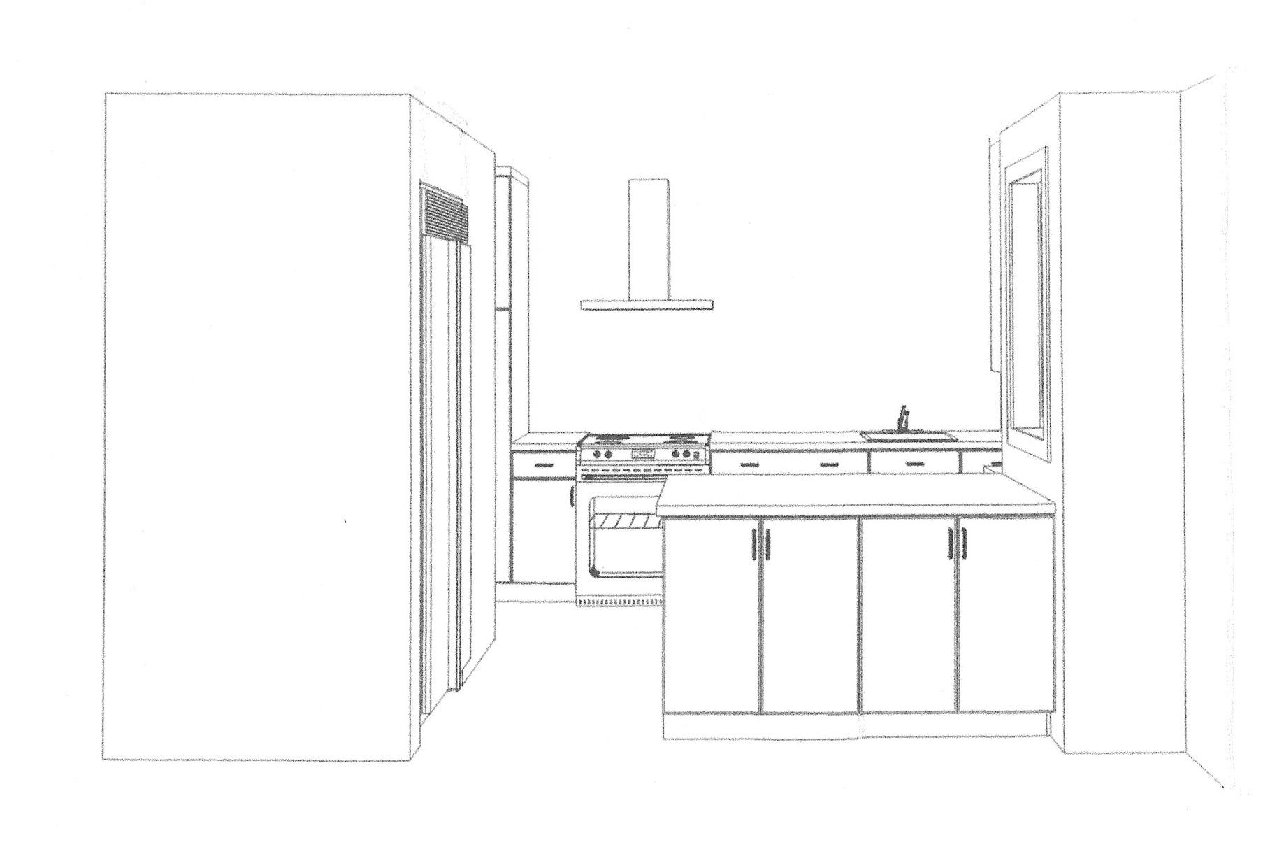 Kitchen - 3D View Nichols Design Associates, Inc}