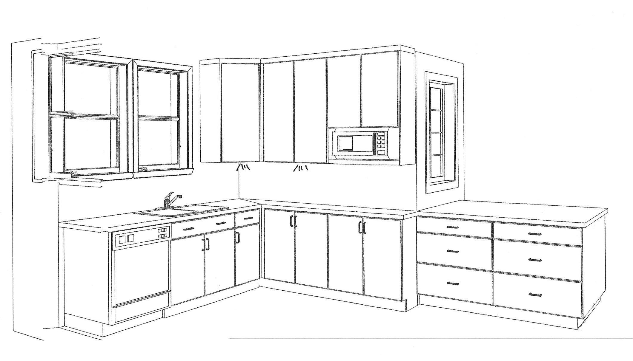 Kitchen - 3D View Nichols Design Associates, Inc.}