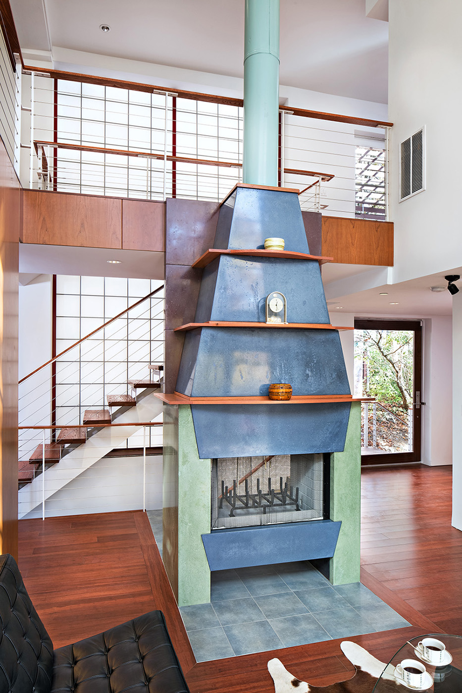 Concrete Fireplace Todd A. Smith Photography, LLC