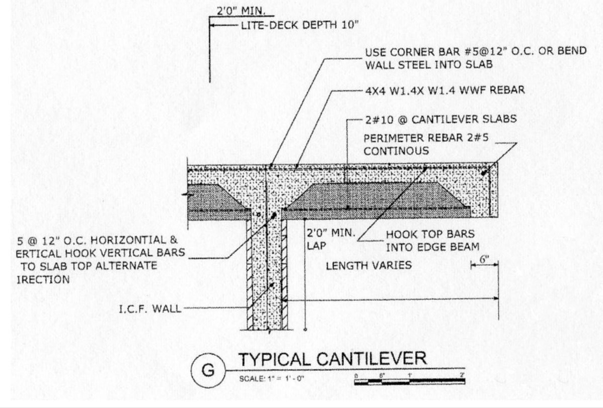Cantilever Detail Nichols Design Associates, Inc.}