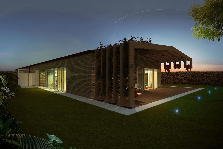 Render External View - Borgo Dei Ciliegi Binini Partners}