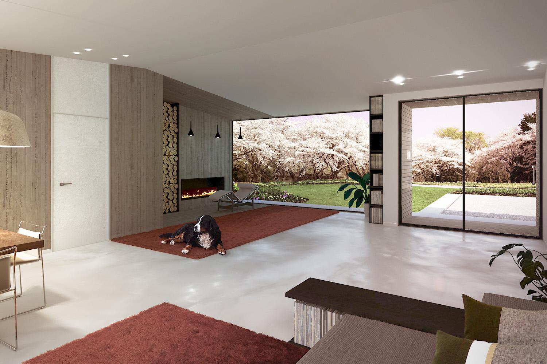 Render Internal View - Borgo Dei Ciliegi Binini Partners}