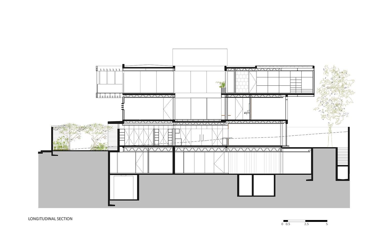 Longitudinal section RIMA Arquitectura}