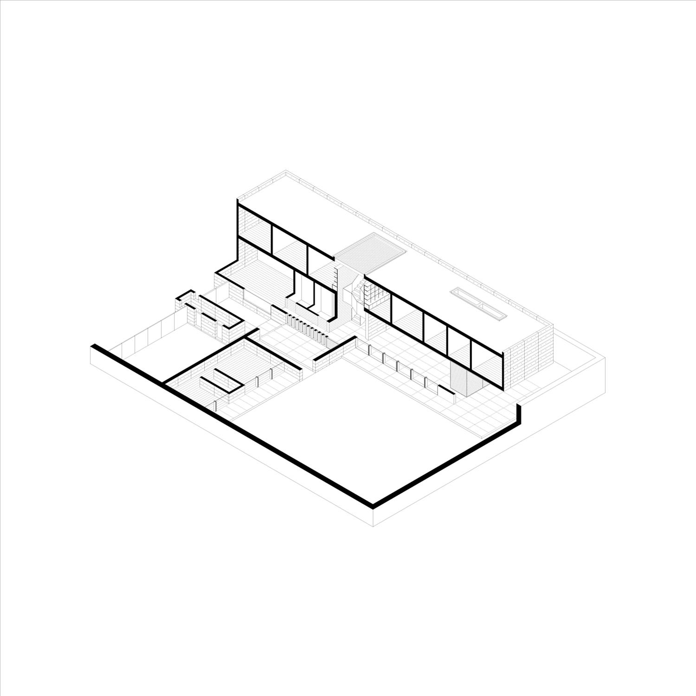 Axonometry Ignacio Urquiza, Bernardo Quinzaños, Centro de Colaboración Arquitectónica}