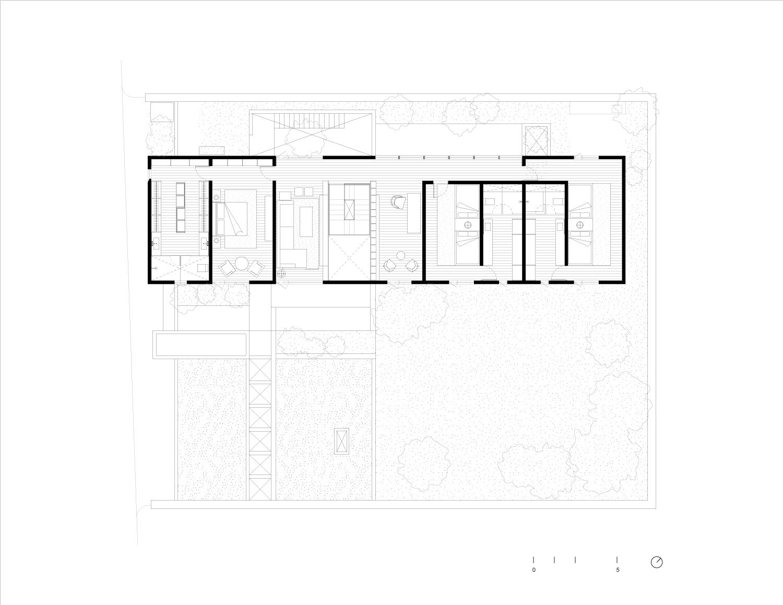 First Floor Plan Ignacio Urquiza, Bernardo Quinzaños, Centro de Colaboración Arquitectónica}