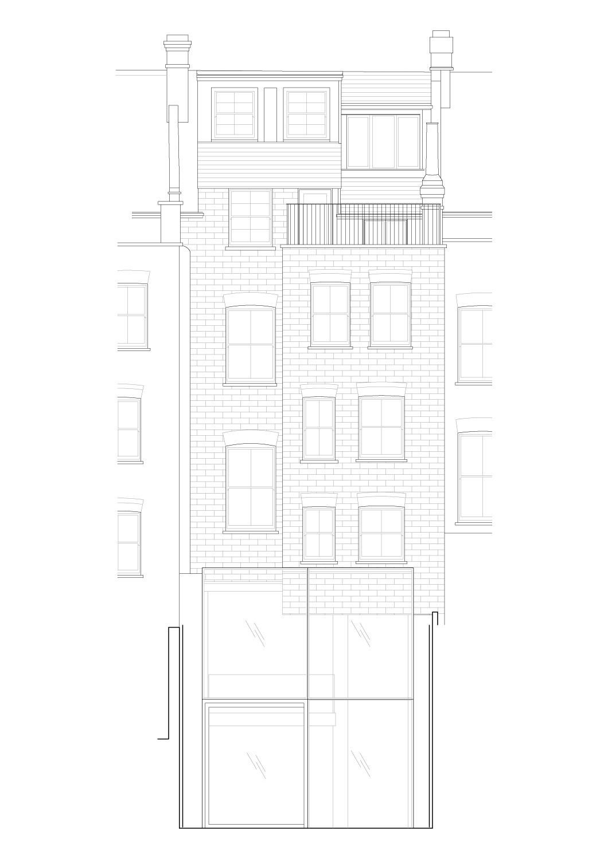 Rear elevation Guarnieri Architects}