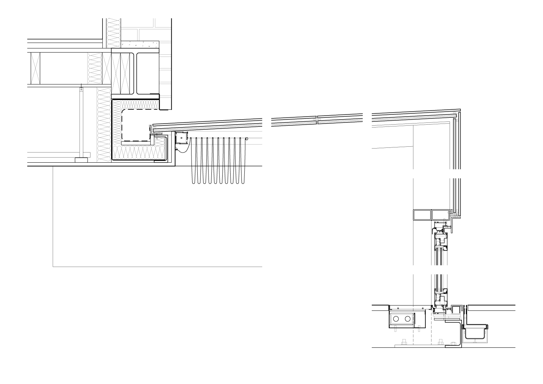 Glass box detail - section Guarnieri Architects}