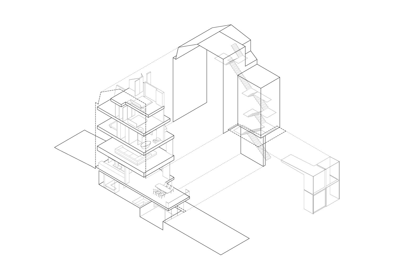 Axonometric view Guarnieri Architects}