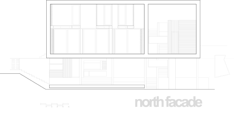 north facade 4 plus arhitekti}