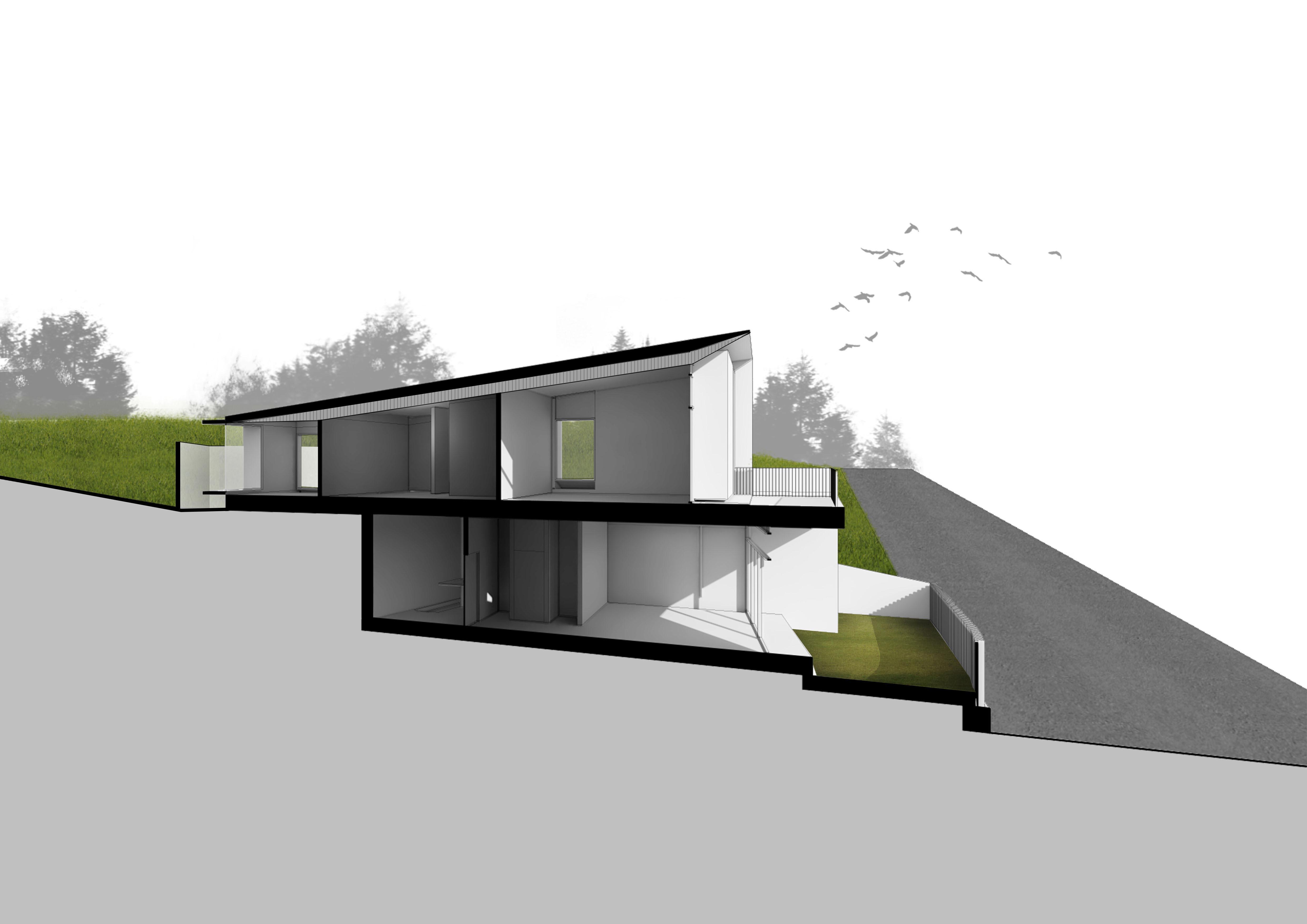 Sectional perspective C-C Zubu Design Associates