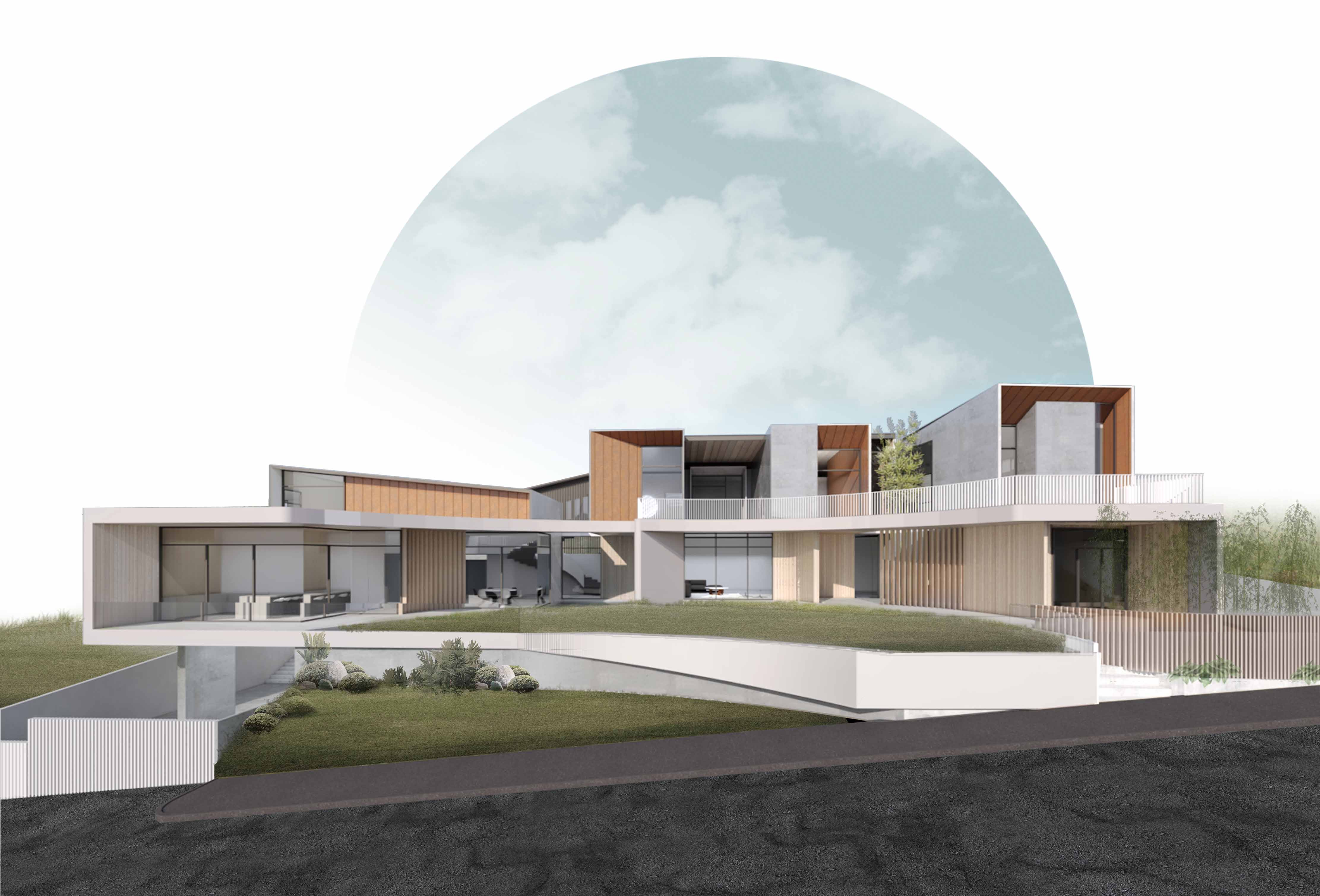 View from Road Zubu Design Associates