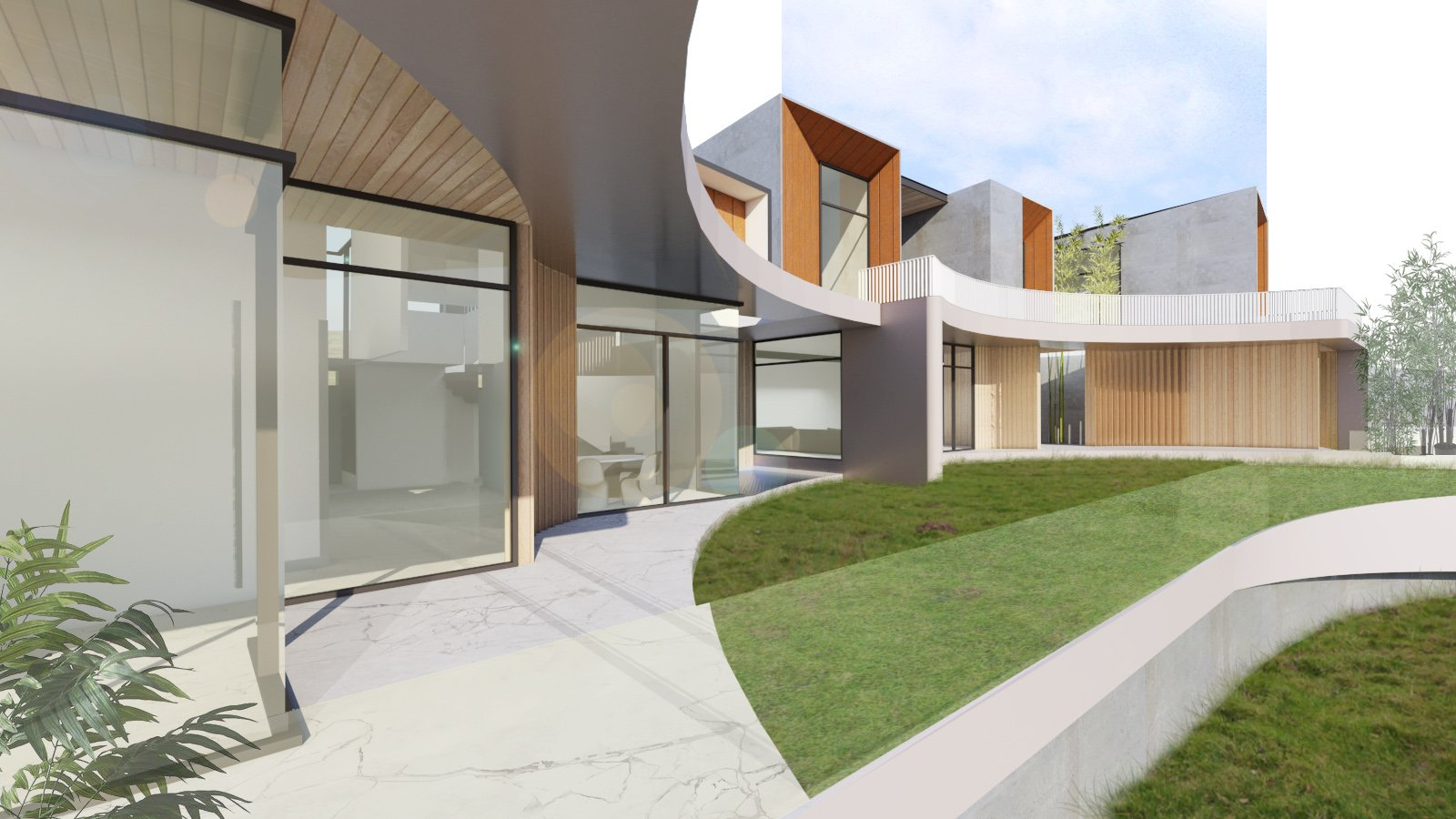 View from Kitchen Deck Zubu Design Associates