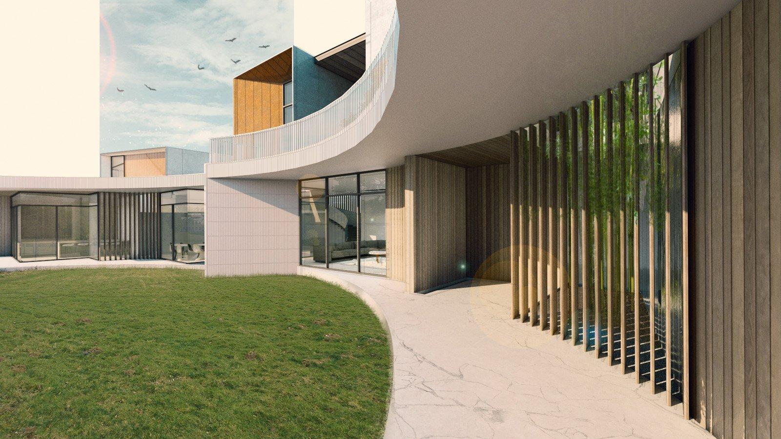 View toward Entrance Zubu Design Associates