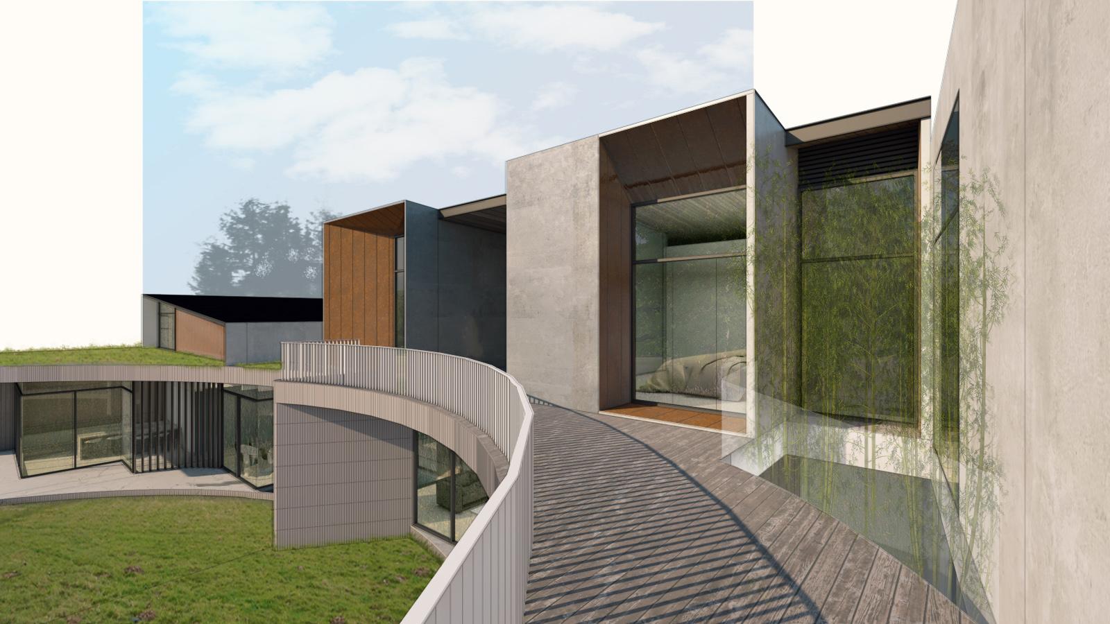 View from Bedroom Deck Zubu Design Associates}