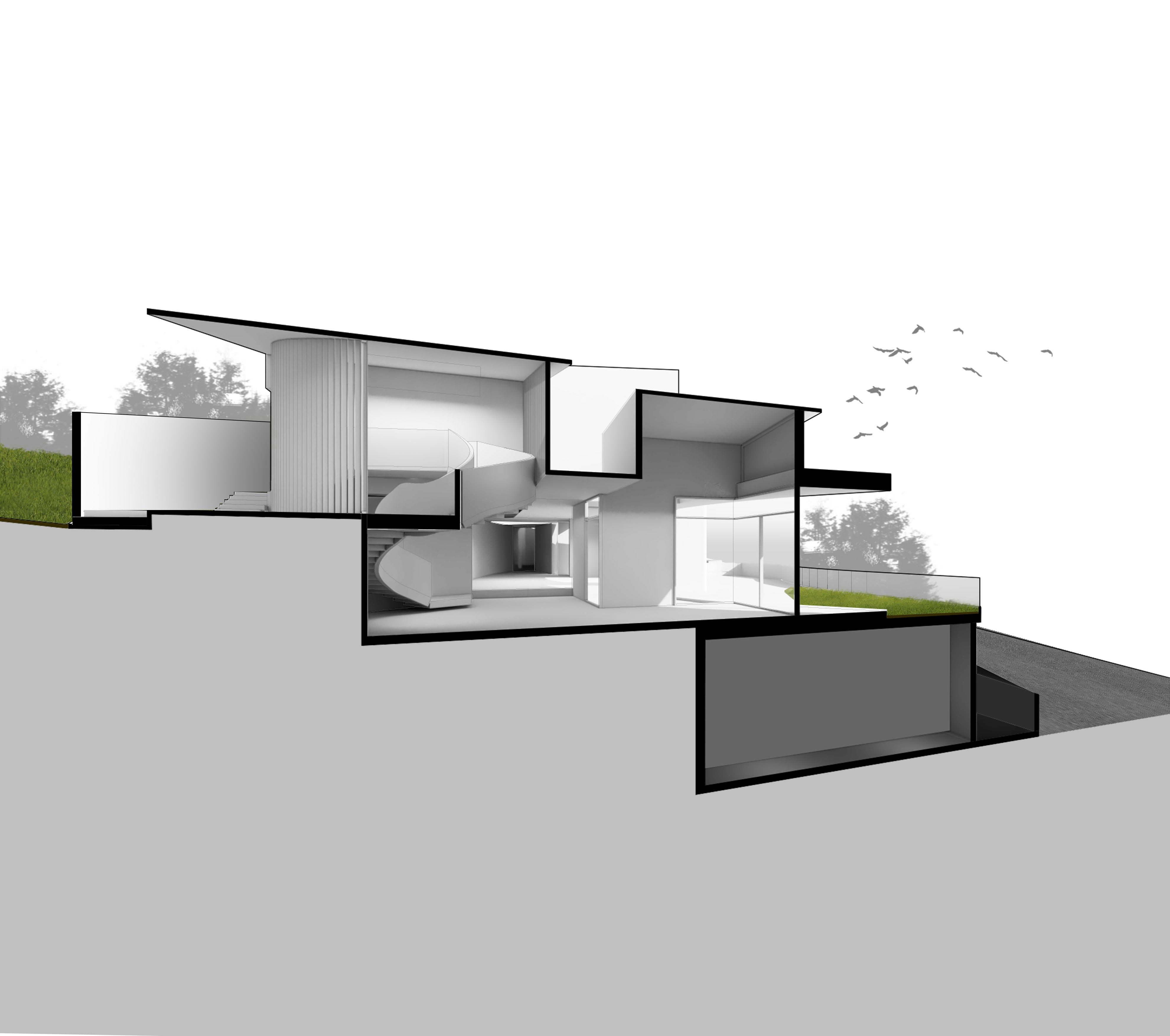 Sectional Perspective A-A Zubu Design Associates}