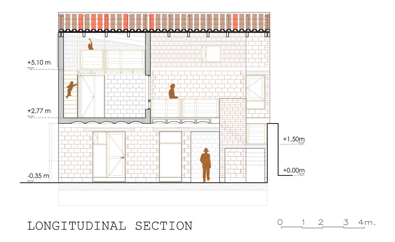 longitudinal section david sebastian architect}