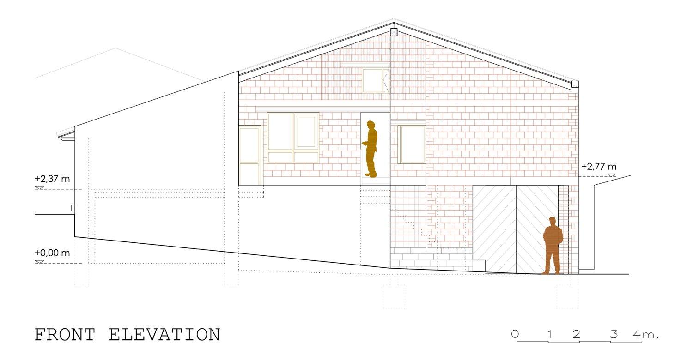 front elevation david sebastian architect}